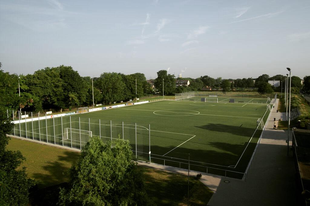 Sportplatz Vogelperspektive